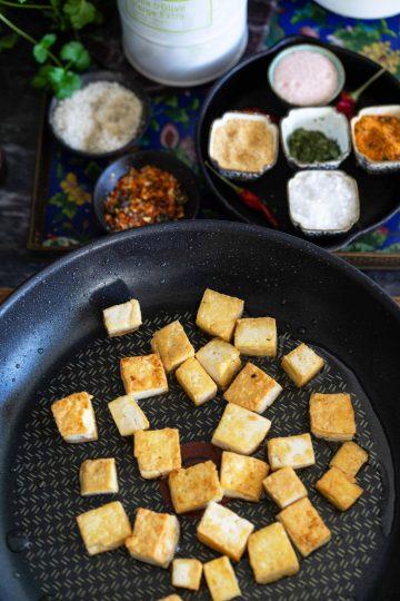 pannulla paahdettu ja marinoitu rapea tofu - jalotofu.fi