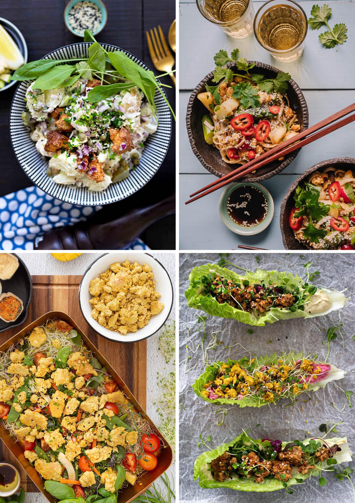 Vegaanireseptit tofu salaatti