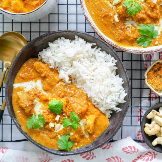 kermainen butter chicken tofulla